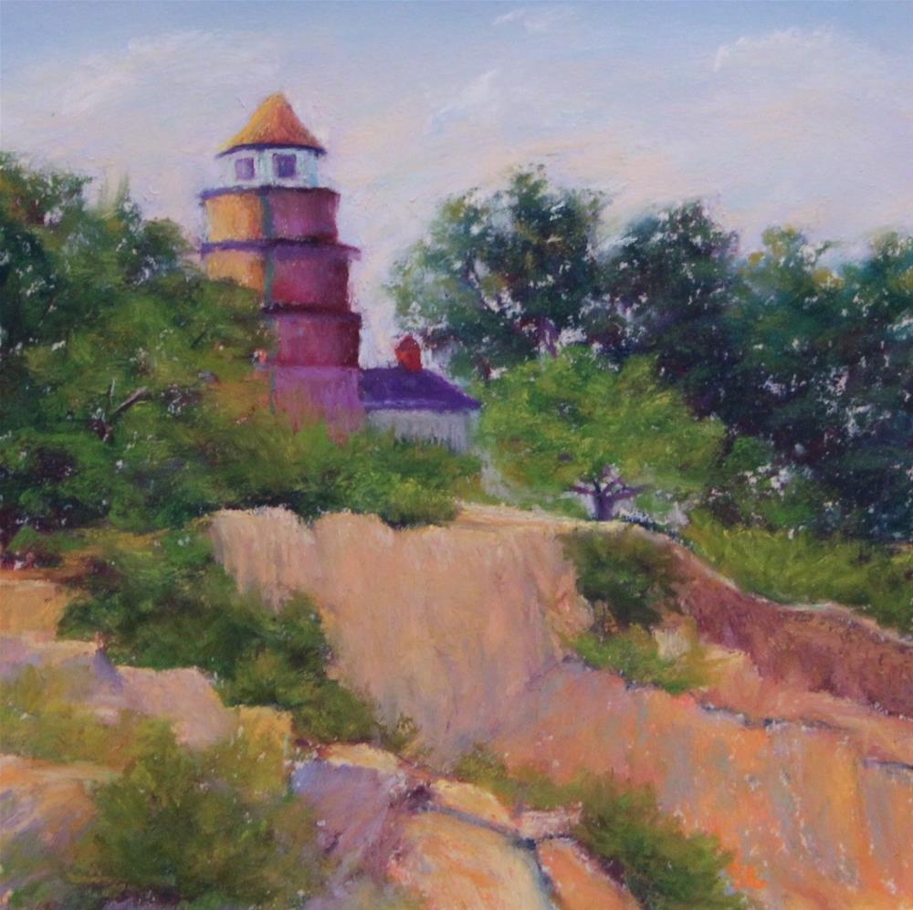 """""""Near Halibut Point"""" original fine art by Sharon Lewis"""