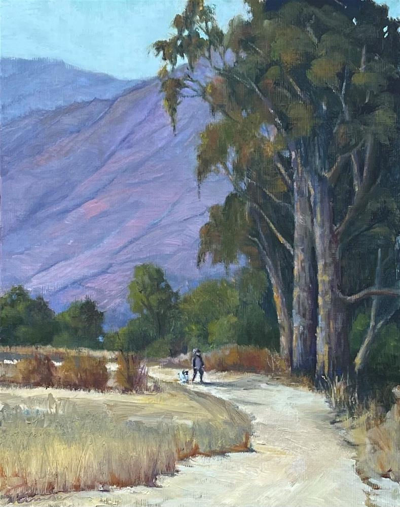 """""""Carmel Valley With the Dogs"""" original fine art by Tamsen Armstrong"""