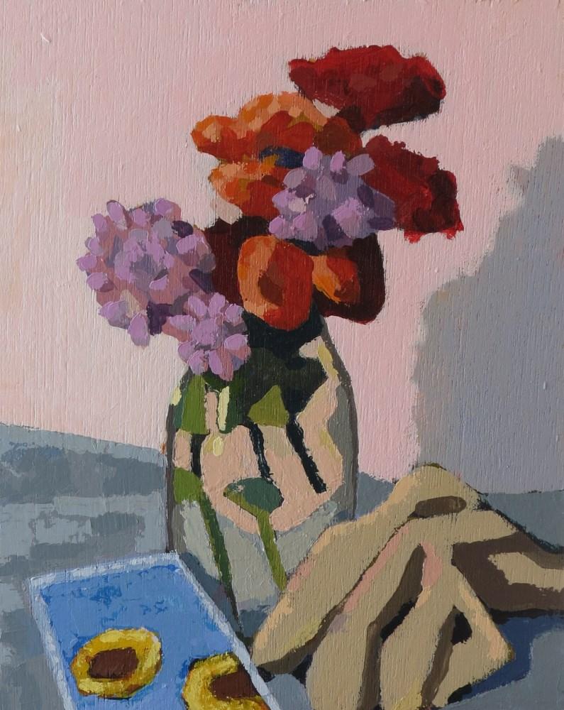 """Autumn Garden"" original fine art by Joan Wiberg"