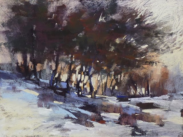 """How to Simplify Winter Trees"" original fine art by Karen Margulis"