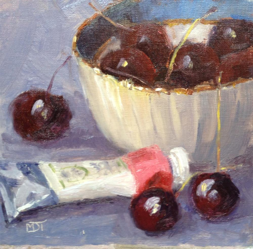 """Life's a Bowl of Cherries"" original fine art by Mo Teeuw"