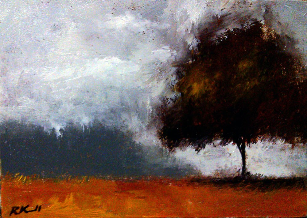 """A Lone Tree in the Park"" original fine art by Bob Kimball"