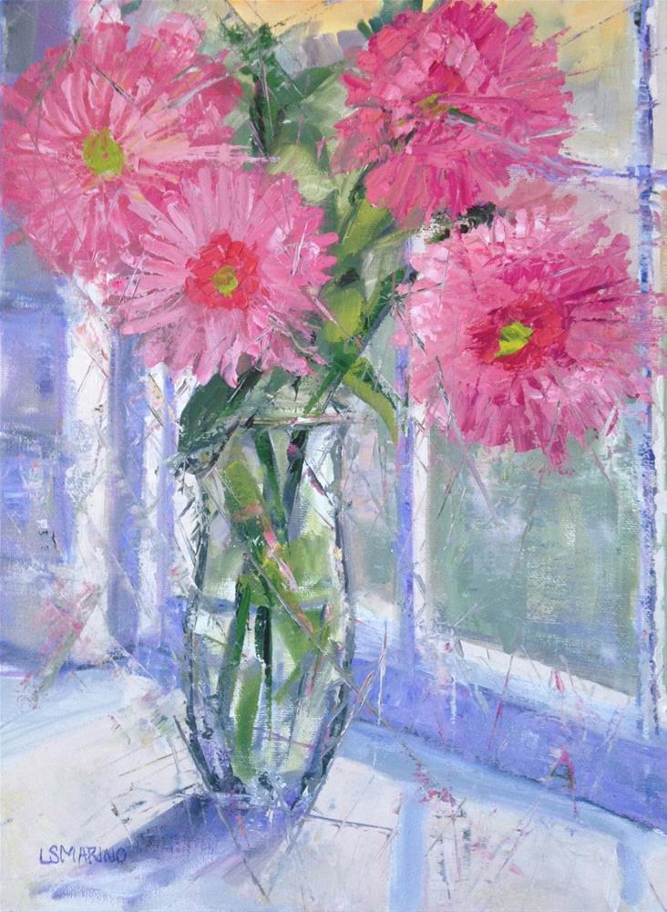 """""""Cheerful"""" original fine art by Linda Marino"""