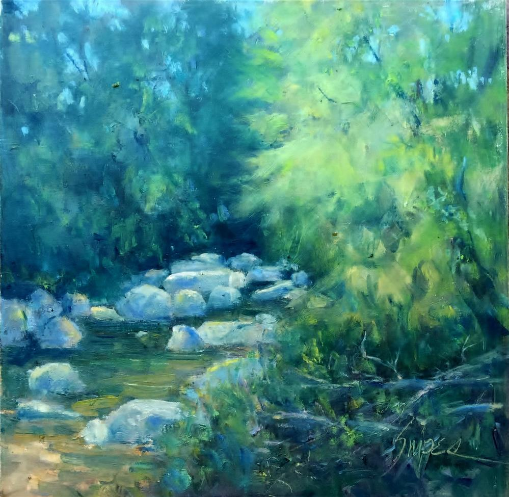 """A Sweet Morning at Little Sugar Creek"" original fine art by Connie Snipes"