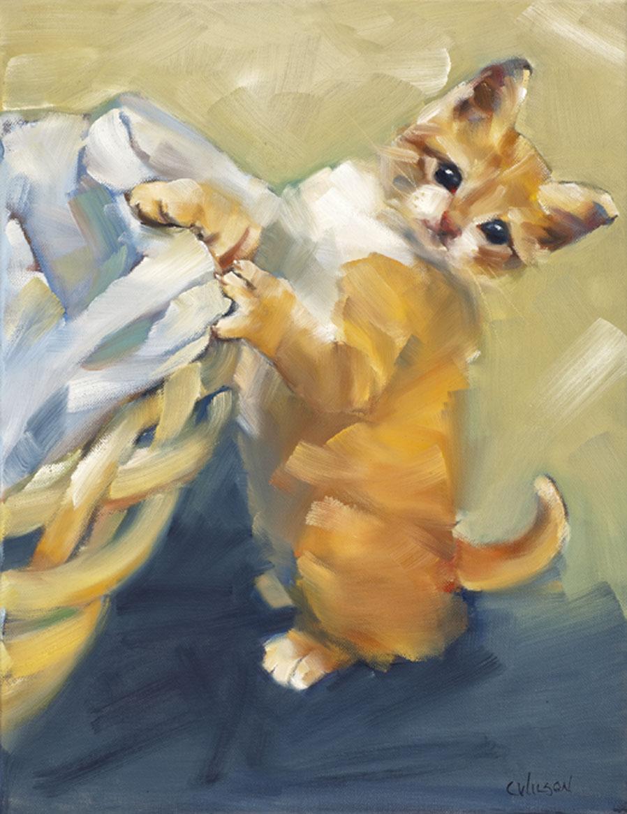 """Dreamsicle"" original fine art by Cheryl Wilson"