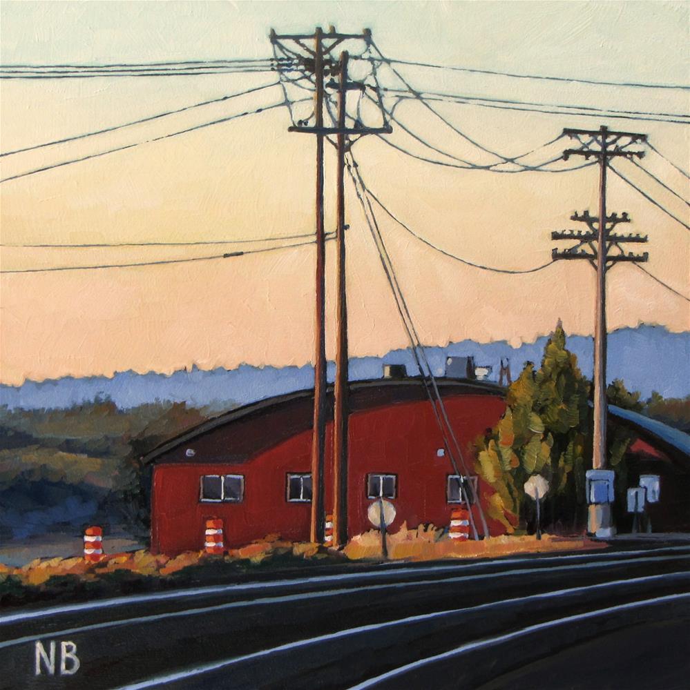 """Lining Up"" original fine art by Nora Bergman"