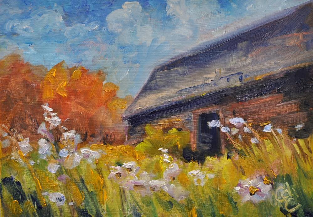 """Autumn Wild Flowers"" original fine art by Catherine Crookston"