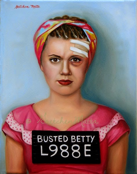 """Busted Betty"" original fine art by Gretchen Matta"