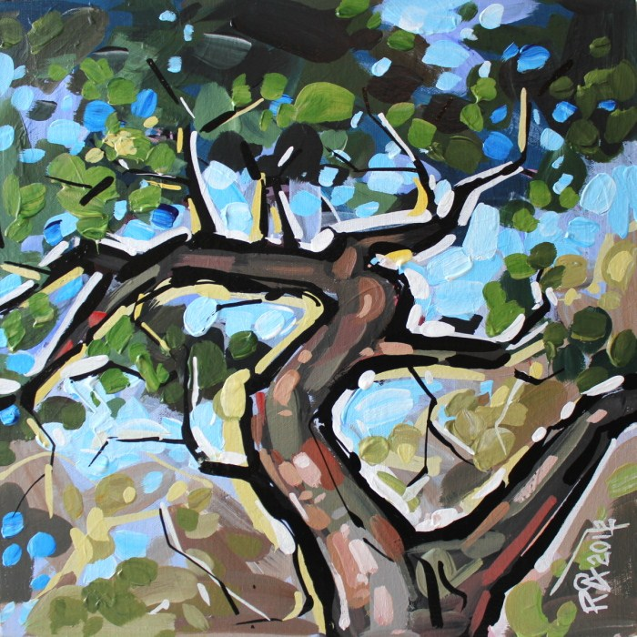 """Tree abstraction 46"" original fine art by Roger Akesson"
