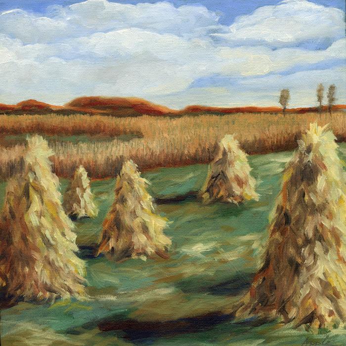 """Ohio Hills landscape"" original fine art by Linda Apple"