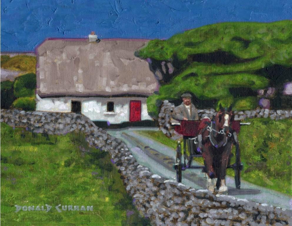 """Rural Irish Landscape"" original fine art by Donald Curran"