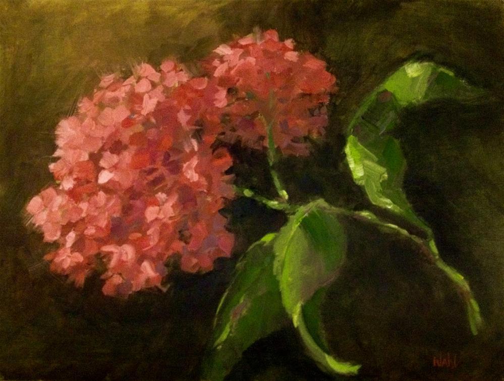"""""""Pink Hydrangea"""" original fine art by Nancy Wahl"""