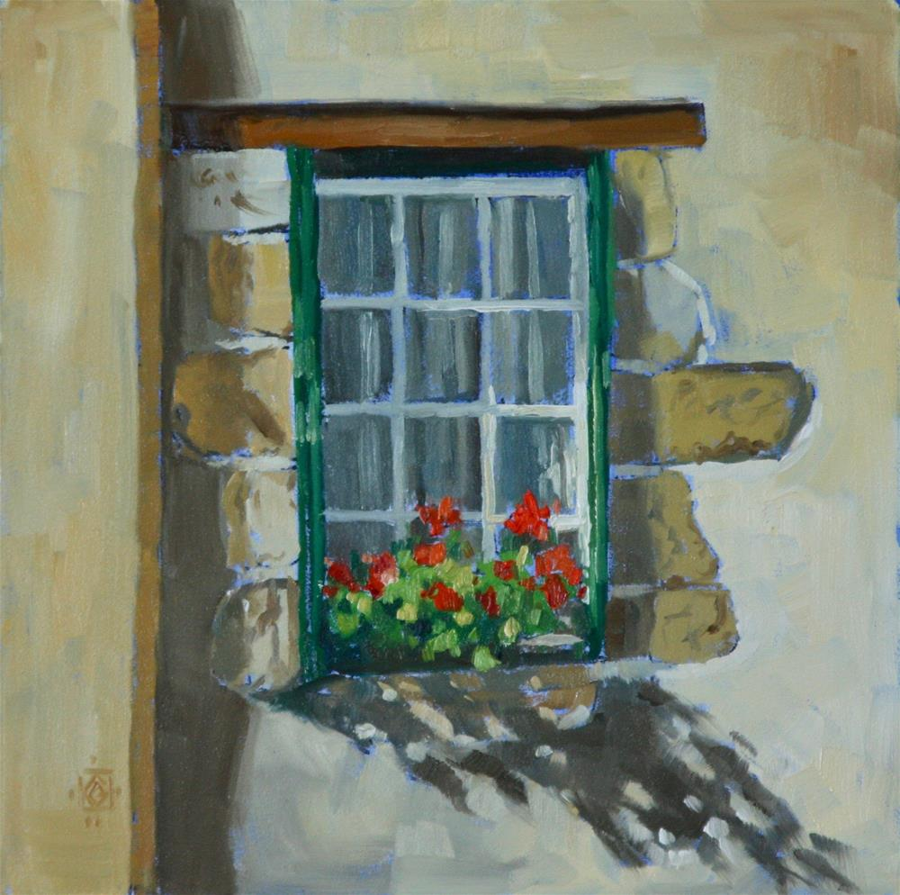 """Veroux, France Window"" original fine art by Carol Granger"