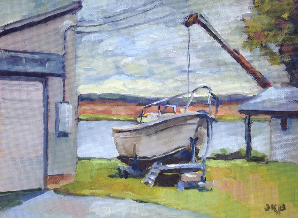 """""""Out of the Water"""" original fine art by Jeanne Bruneau"""