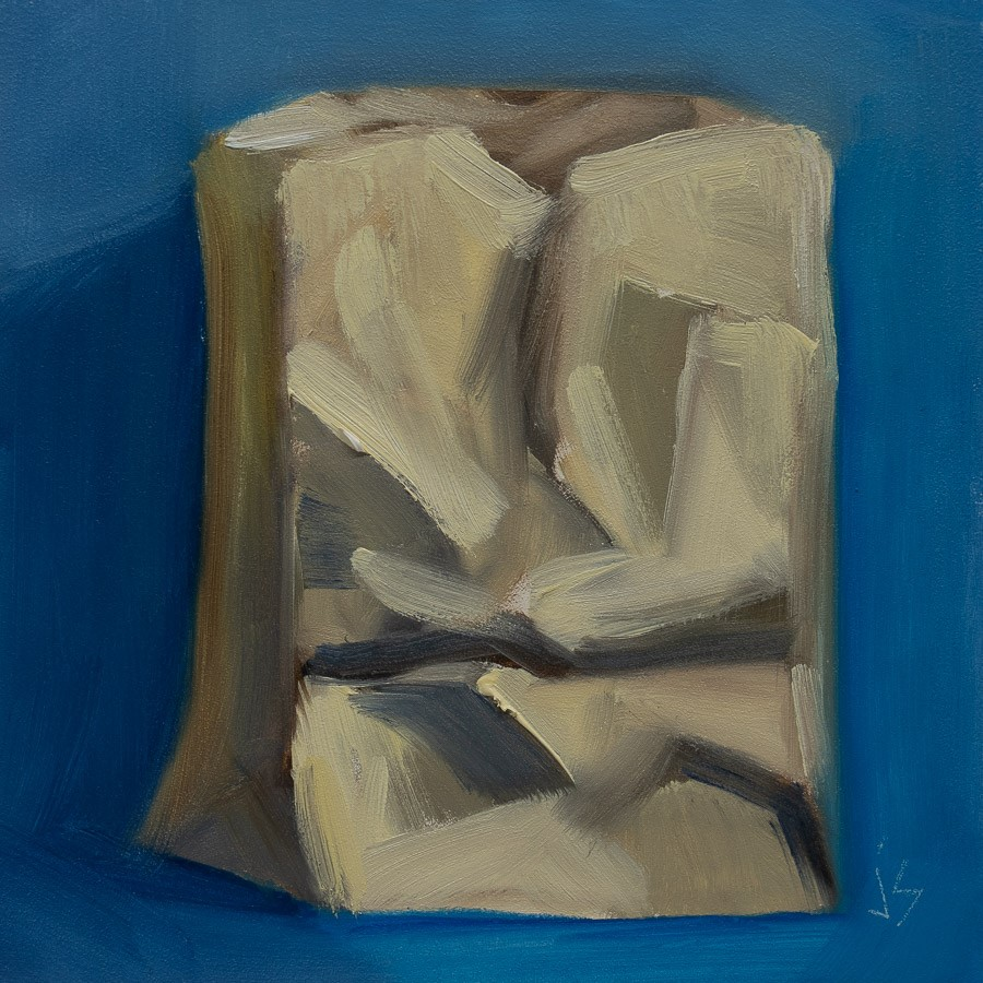 """In the Bag"" original fine art by Johnna Schelling"