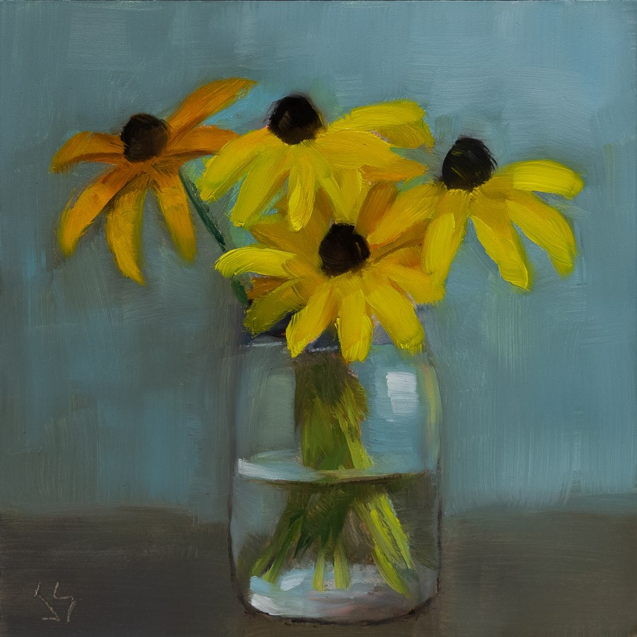 """Sweet Rudbeckia"" original fine art by Johnna Schelling"