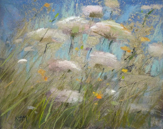 """How to add Some BLING to Your Pastel Paintings"" original fine art by Karen Margulis"
