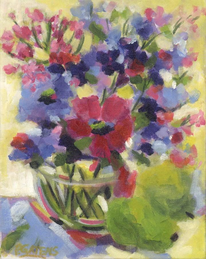 """Purples and Pears"" original fine art by Pamela Gatens"