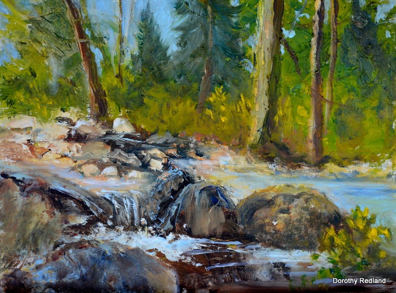 """Rushing Waters"" original fine art by Dorothy Redland"