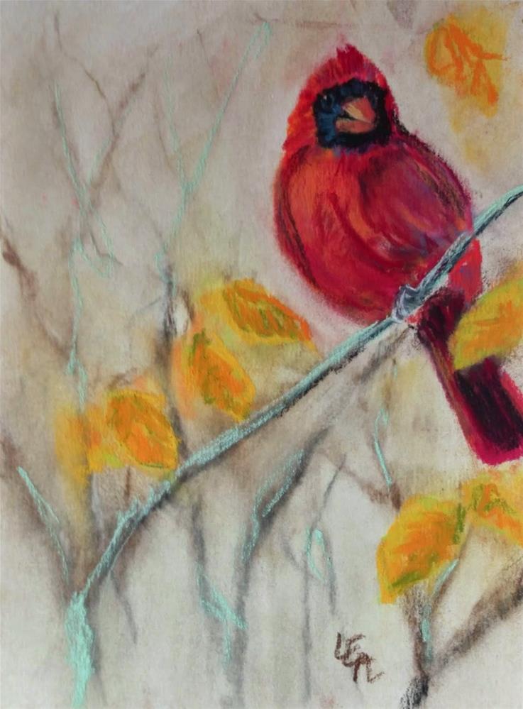 """Crimson and Gold"" original fine art by Anna Lisa Leal"