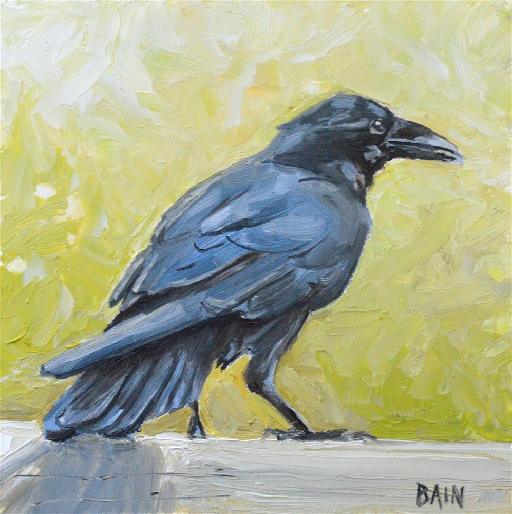 """Raven no. 3"" original fine art by Peter Bain"