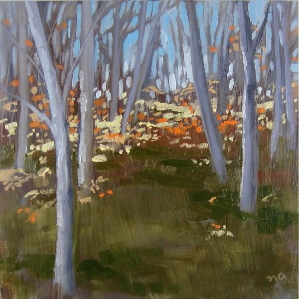 """""""Little Stand Of Birch"""" original fine art by Nicki Ault"""