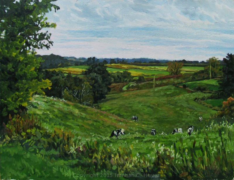 """Grazing the East Pasture"" original fine art by Hannah C. Heyer"