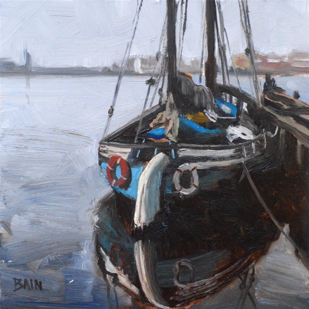 """Safe Harbor"" original fine art by Peter Bain"