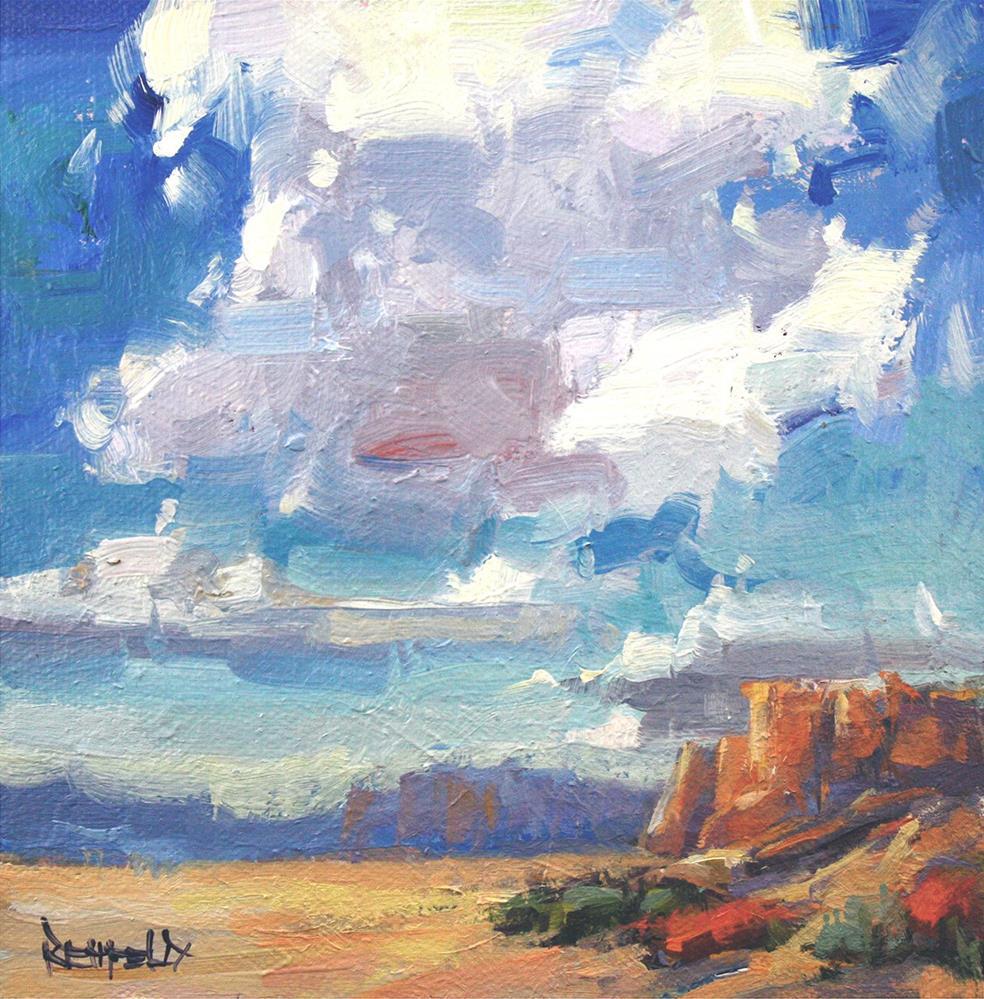 """""""Desert Clouds"""" original fine art by Cathleen Rehfeld"""