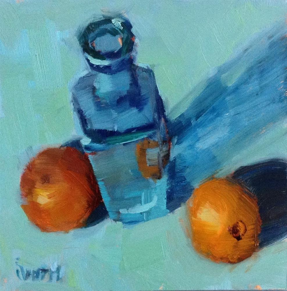"""Still Life With Oranges"" original fine art by Barbie Smith"