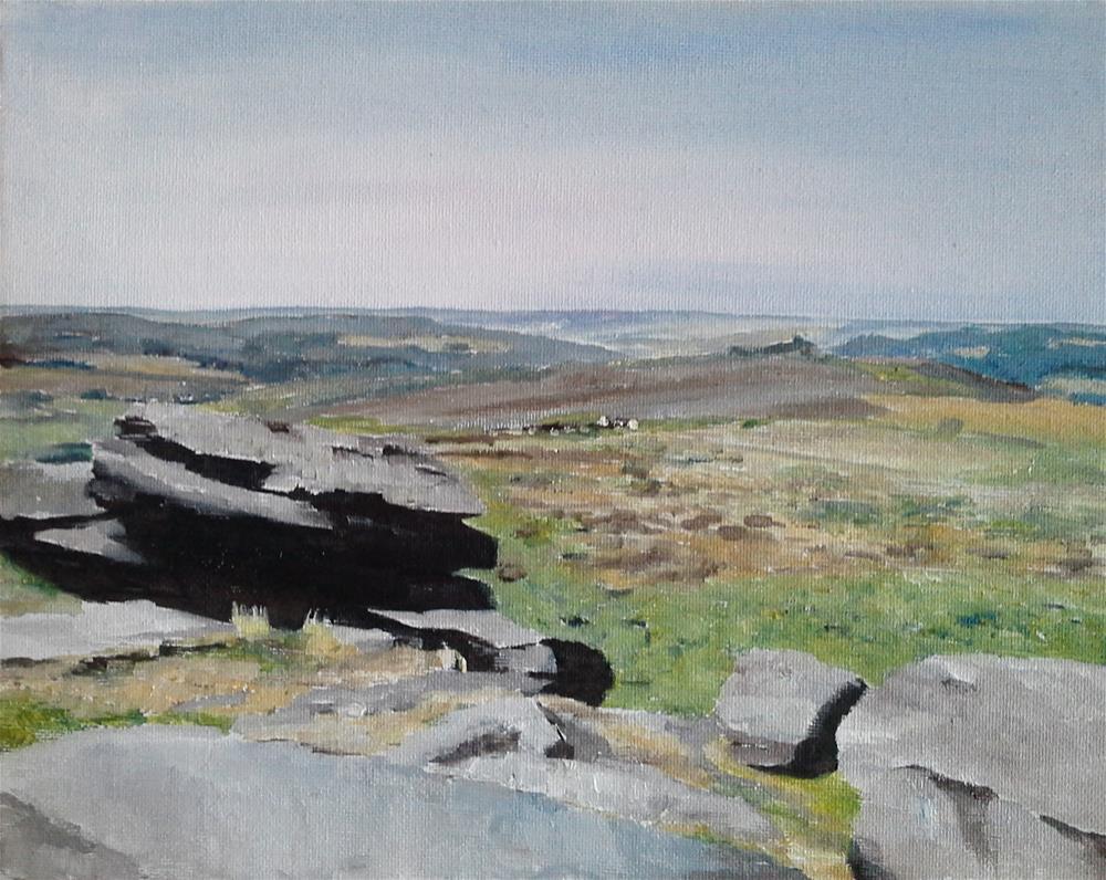 """Curbar Edge, Peak District"" original fine art by James Coates"