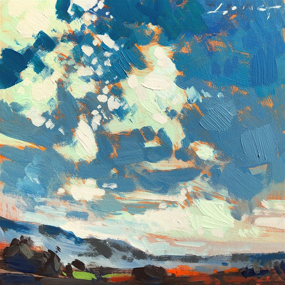 """Interstate Cloudscape 1"" original fine art by Christopher Long"