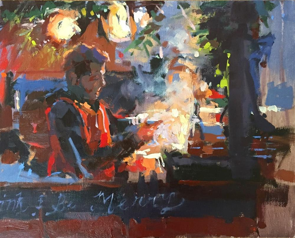 """""""Mulled wine and hot chocolate"""" original fine art by Haidee-Jo Summers ROI"""