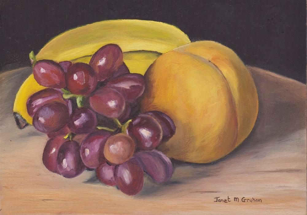 """Fruit Platter"" original fine art by Janet Graham"