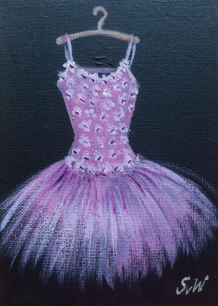 """""""Pink Toutou Dress"""" original fine art by Sonia von Walter"""