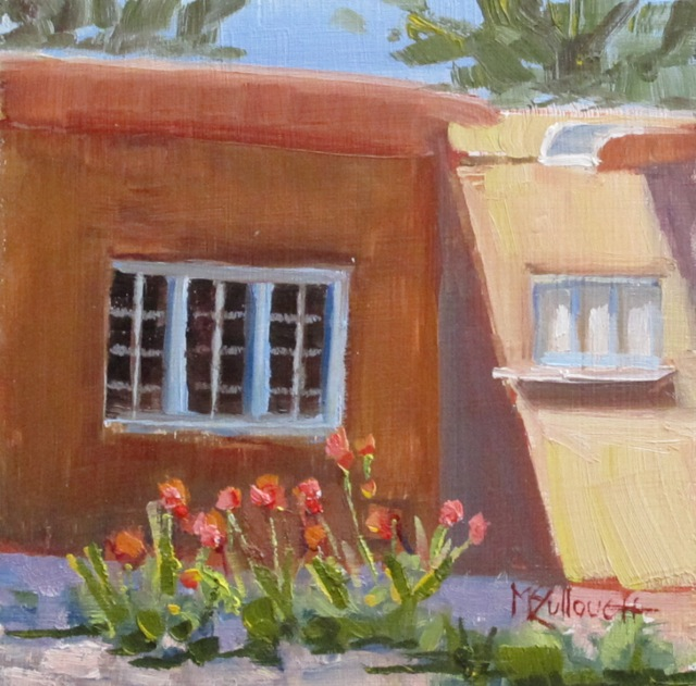 """Tulips at the Blumenschein"" original fine art by Susan McCullough"