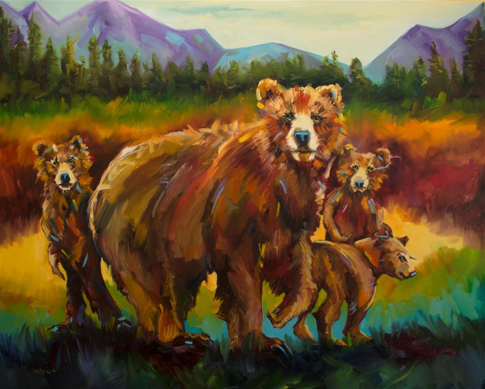 """Family"" original fine art by Diane Whitehead"