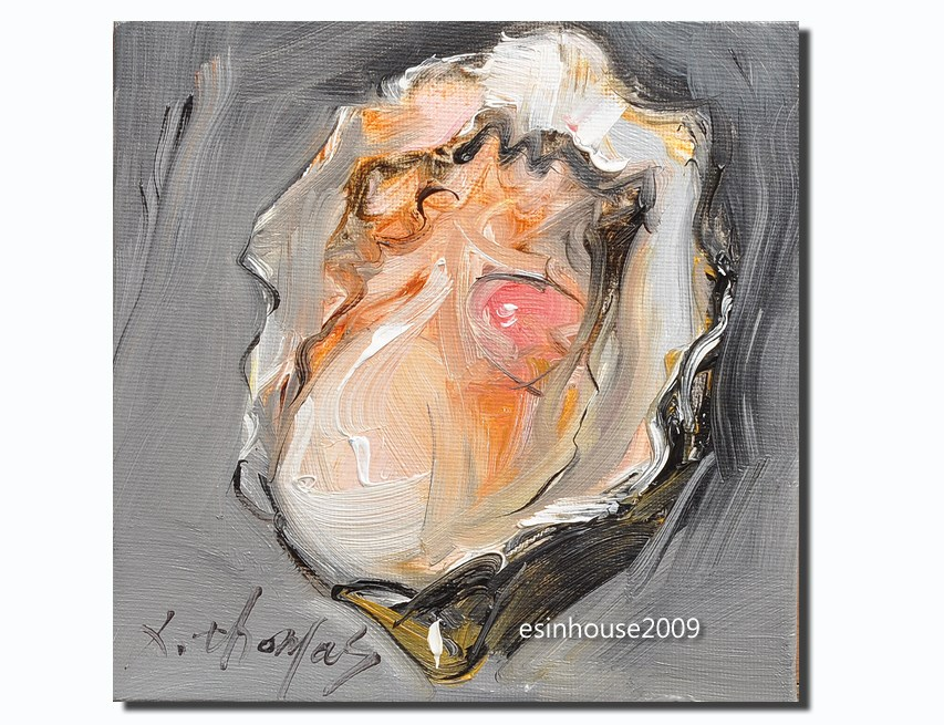 """""""Delicious sea animals shell OYSTER Original Paintings Minimalist style"""" original fine art by Thomas Xie"""