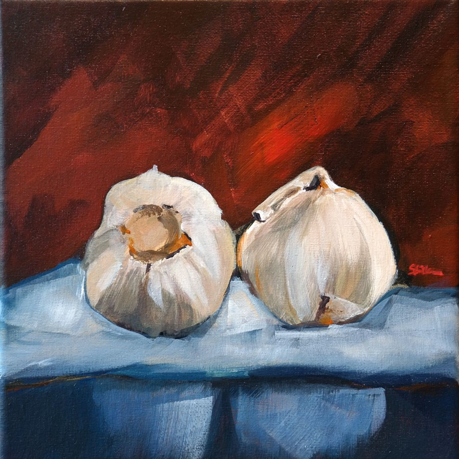 """1337 Garlic at the Lakeside"" original fine art by Dietmar Stiller"