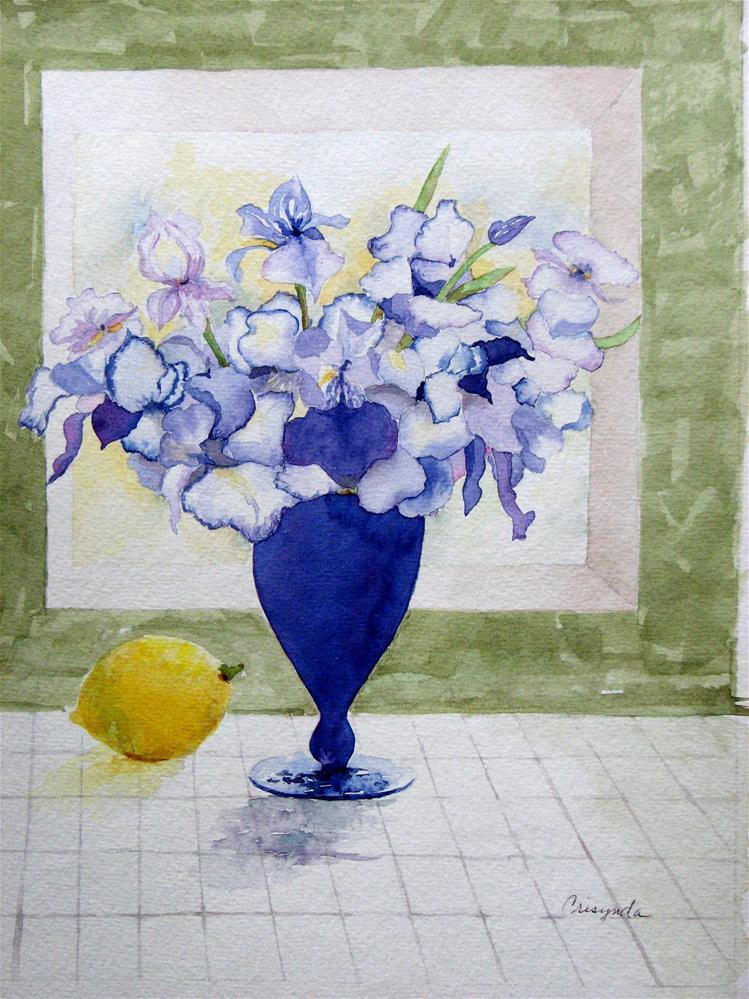 """Iris's"" original fine art by Crisynda Buss"