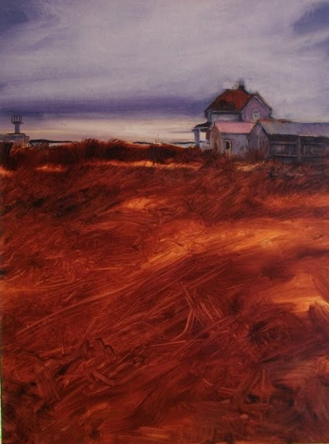 """""""US Geological Survey Site at Fort Flagler on Marrowstone Island"""" original fine art by Robin Weiss"""