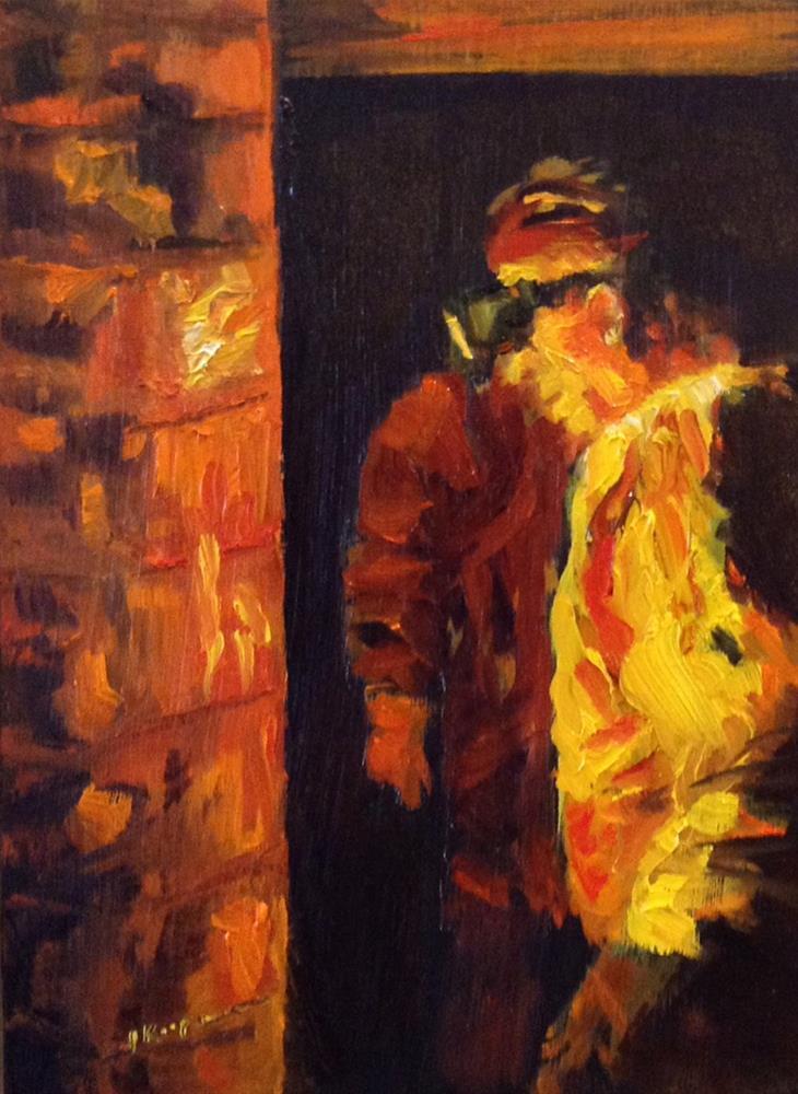 """Firing the Pottery"" original fine art by Shelley Koopmann"