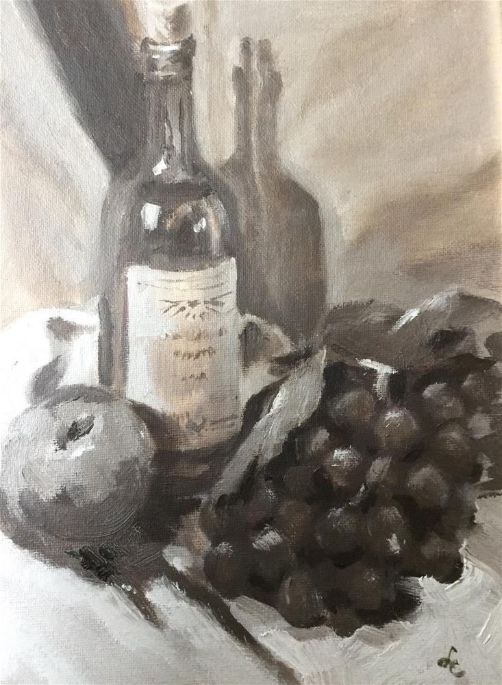 """""""Pinot Noir"""" original fine art by Linda Carney"""