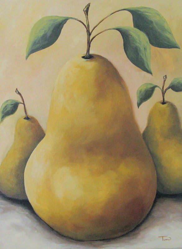 """Faye's Pears"" original fine art by Torrie Smiley"