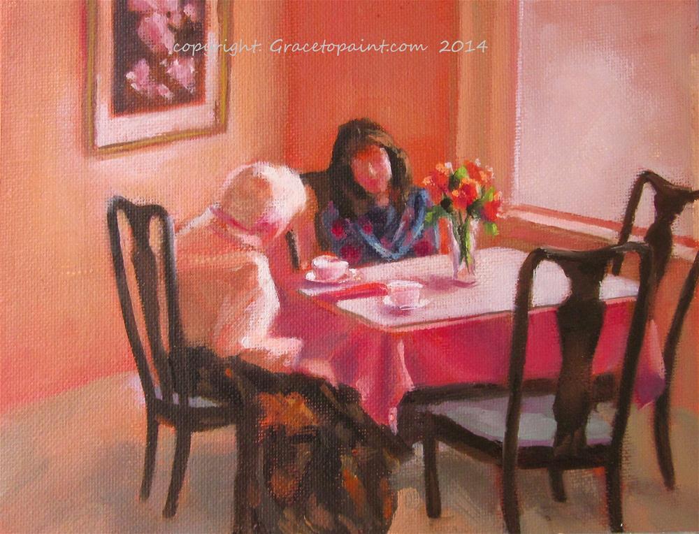 """Formal Tea"" original fine art by Maresa Lilley"