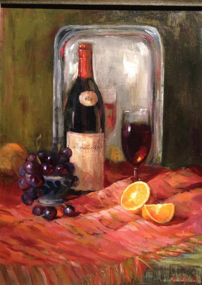 """Olde Country Vino"" original fine art by Barbara Fluty"