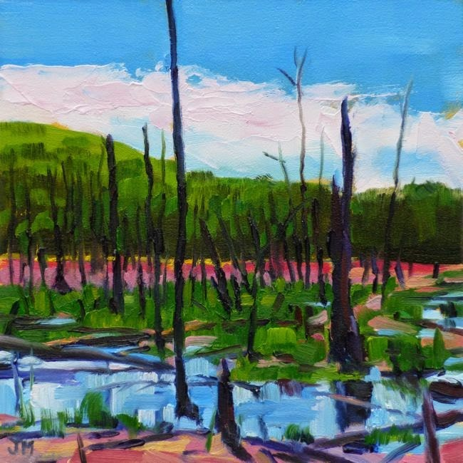 """Spring at the Tourne"" original fine art by Jessica Miller"