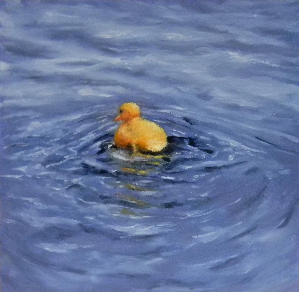 """Across The River I Must Go!"" original fine art by Annemiek Haralson"