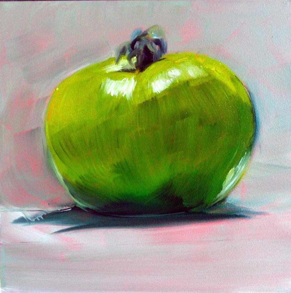 """Green Tomato"" original fine art by Cietha Wilson"
