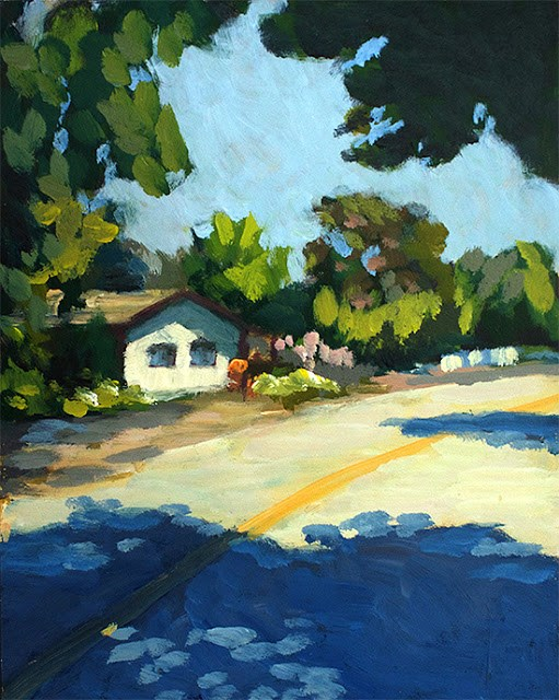 """Country House"" original fine art by J. Farnsworth"